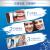 EUROB(Oral-b)ブラウンEUROb大人用電動歯ブラシ3 D充電式全自動音波式回転ブルートゥース仕様正奇歯ブラシP 4500白
